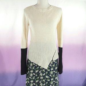 Sz M Asymmetrical Sweater